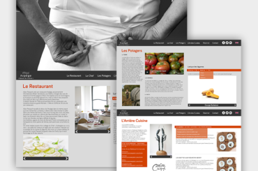 Site Internet du restaurant Arpège