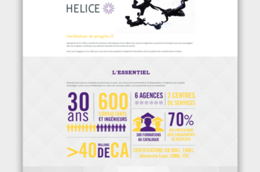 Site internet responsive du Groupe Helice