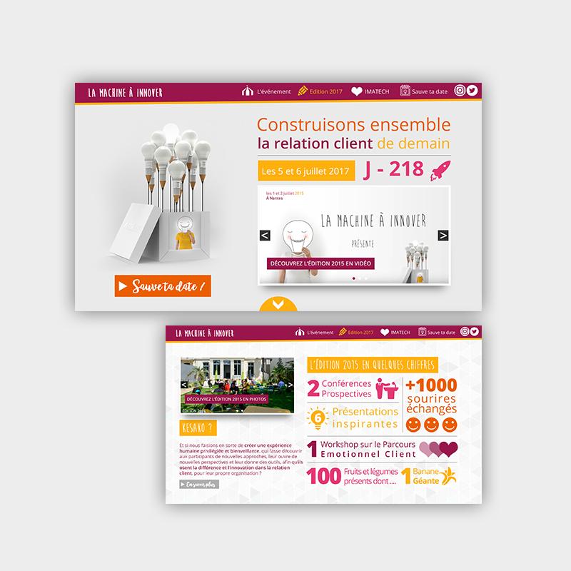 Webdesign pour Imatech / La Machine à Innover